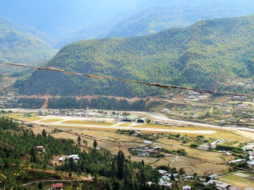 Paro Airport Bird's Eye View Point